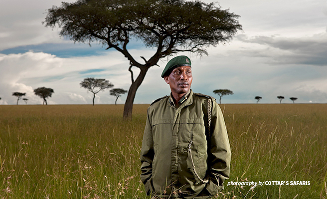 Wildlife rangers protecting the conservancy come from the Olderkesi community