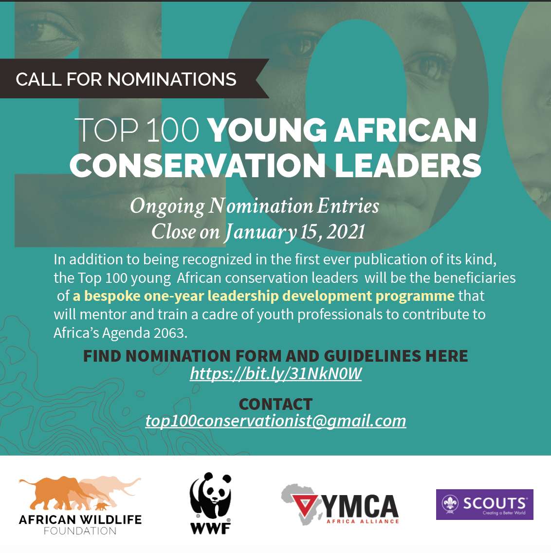 Top 100 Young African Conservation Leaders Award