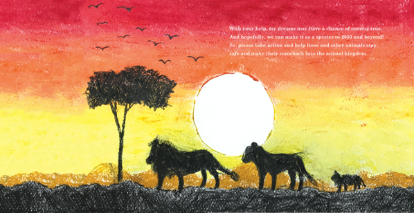 "Page from ""One Special Lion: The Story of Sion"""