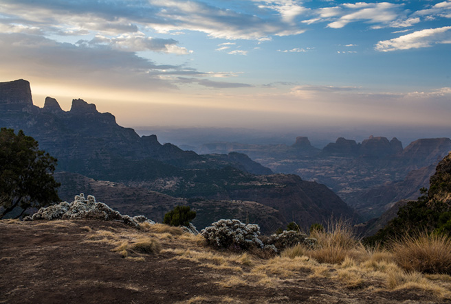 The Simien Mountains Landscape