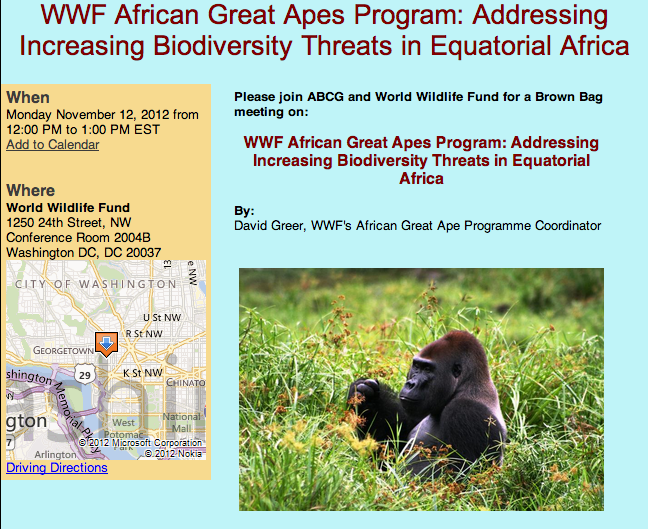 Great ape wildlife trade