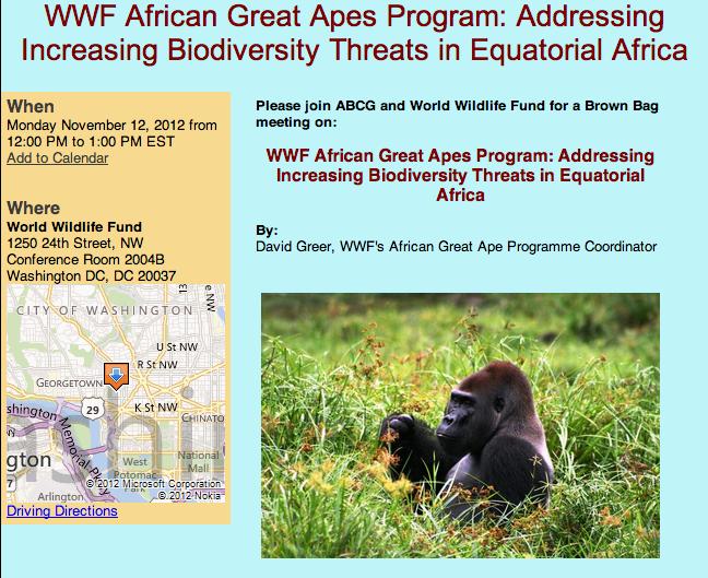 Great ape wildlife trade
