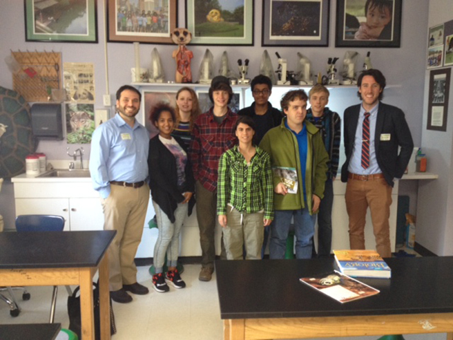AWF's Mike Rooney presents to the Tide Turners club at the Lab School