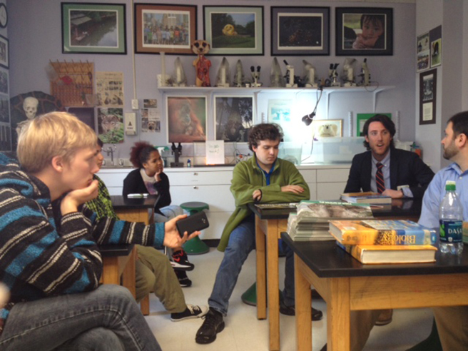AWF's Mike Rooney presents to conservation minded students at the Lab School