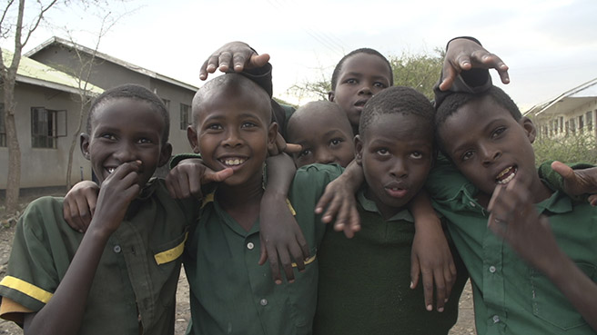 Students at AWF's Manyara Ranch Primary School