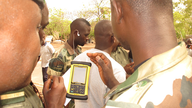 Cyber Tracker technology used by rangers