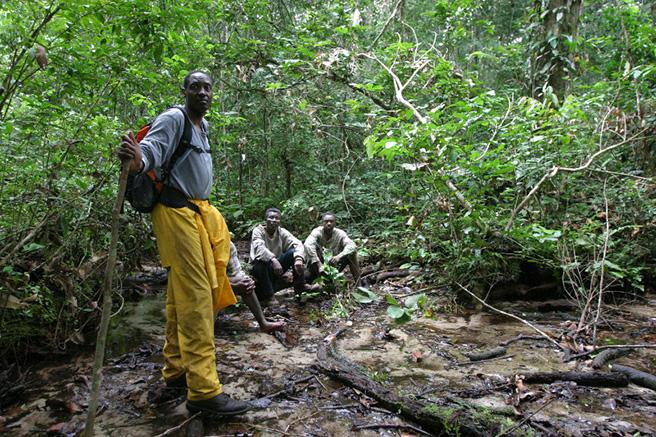 The head of the USAID/Uganda for Tourism Biodiversity Program, Kaddu Sebunya works with local communities in Uganda