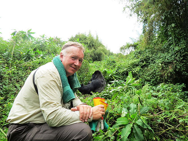Gorilla Tracking in Rwanda © Jane  Jeremy Hoggett  Journeys Discovering Africa