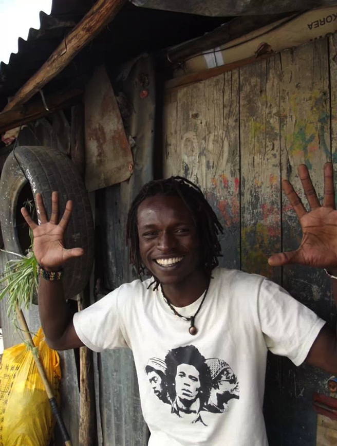 Kevin, a yoga teacher with the Africa Yoga Project