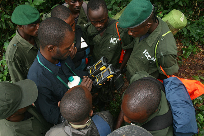 Eco guard training in Iyondji Community Bonobo Reserve