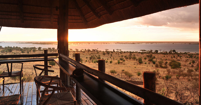 The view from AWF's Ngoma Safari Lodge in Botswana.