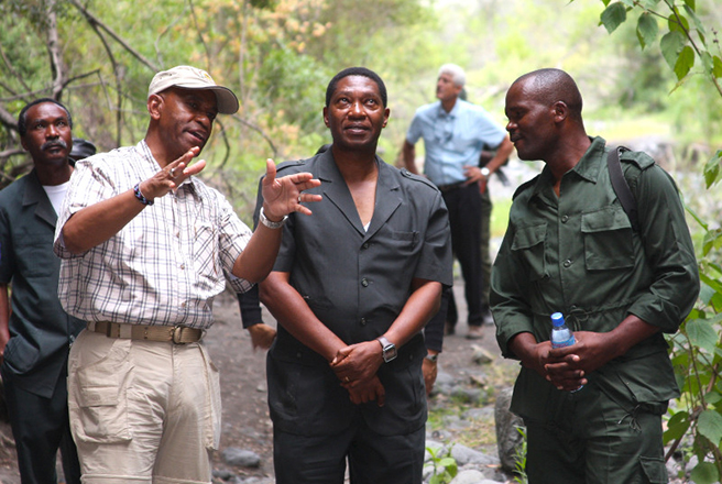 African Wildlife Foundation REDD project launch in Kolo Hills