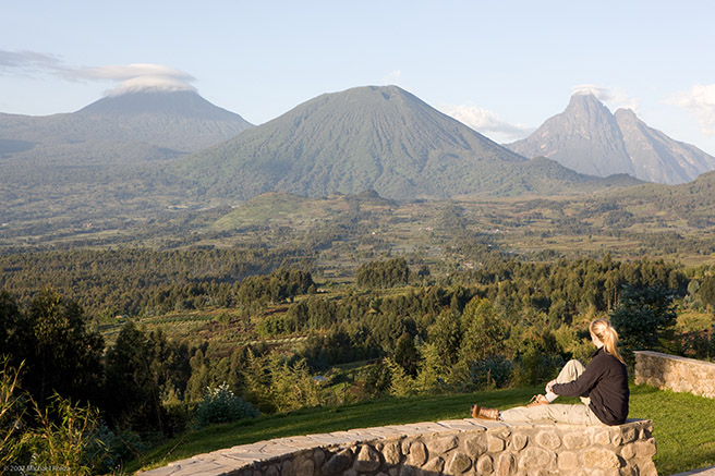 Sabyinyo Silverback Lodge in the Virunga masif in Rwanda © Governors Camp Collection