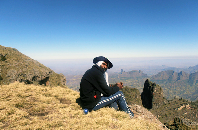 Trekker guide Shiferaw in Simien Mountains