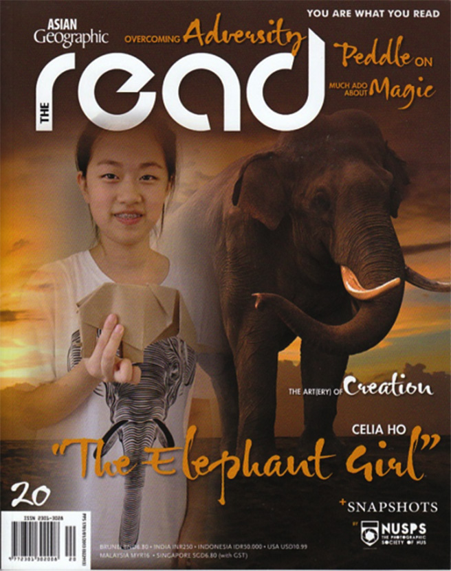 Celia Ho the Elephant Girl in October Asian Geographic to speak about elephant poaching