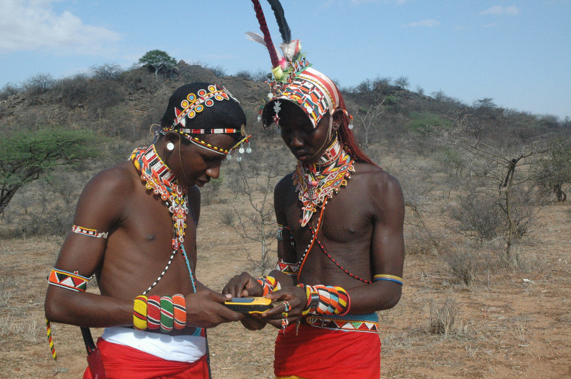 Wildlife Warriors in Samburu with GPS tracking devices
