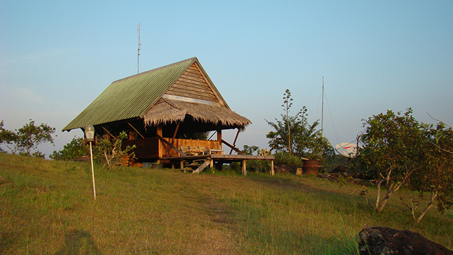 View of the field station, Station D'Etudes des Gorilles et Chimpanzes. Photo by Stephanie Schuttler
