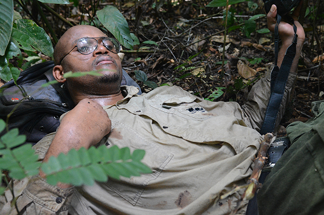 Nakedi Maputla taking a well-deserved rest on the forest floor