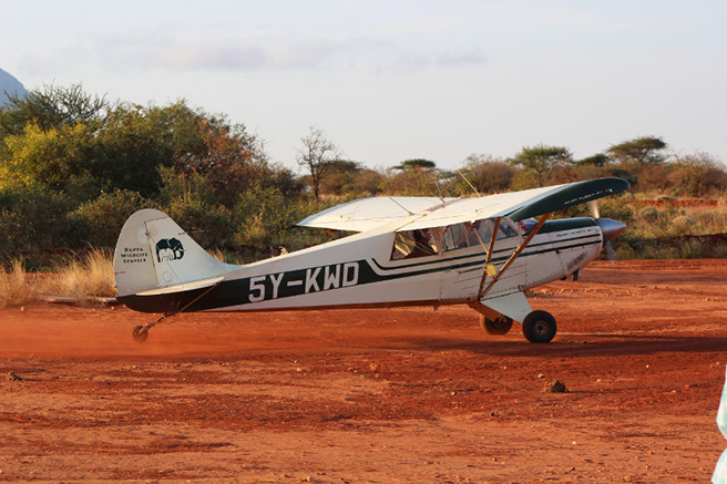 KWS plane. Photo by Peter Chira