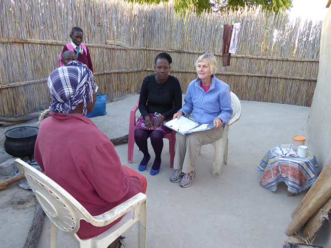 Dr. Rosemary Black conducting tourism surveys