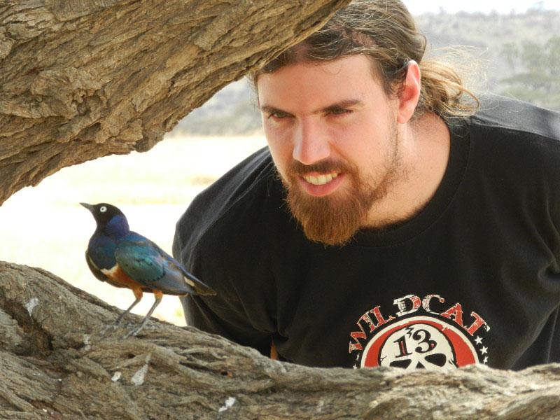 AWF conservation management trainee Sam Lloyd