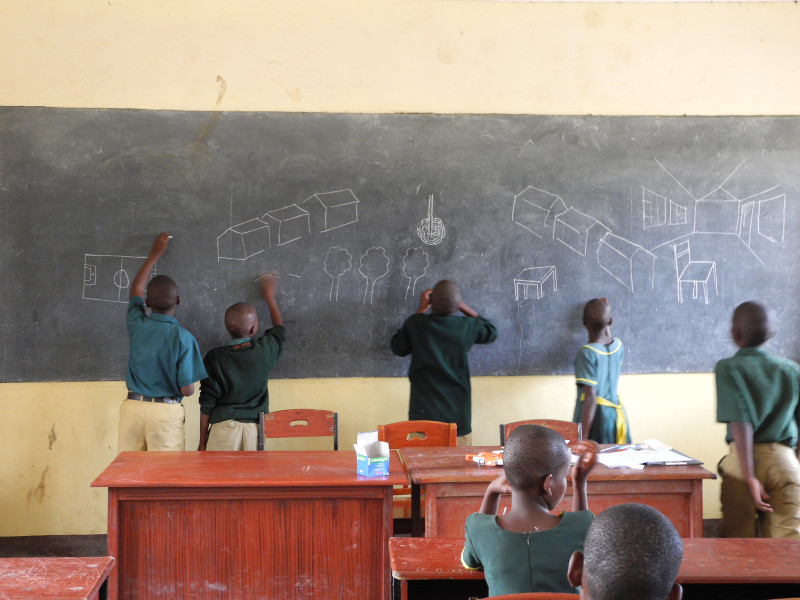 Children at Manyara Ranch Primary School
