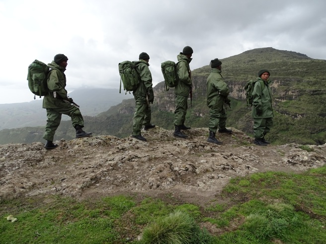 EWCA rangers in Simien Mountains