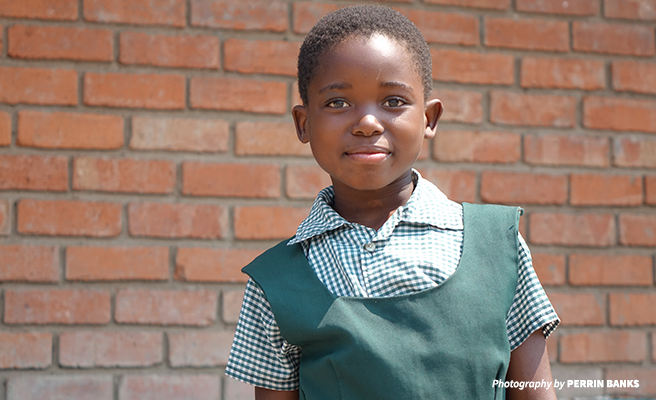 Lisa, a student at Lupani Primary School