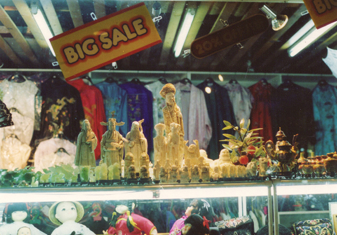 Ivory figurines for sale in Hong Kong 1992. Photo by AWF
