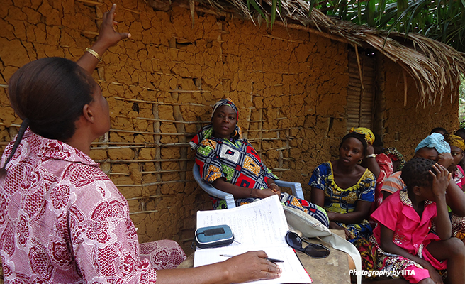 Congolese women at a meeting