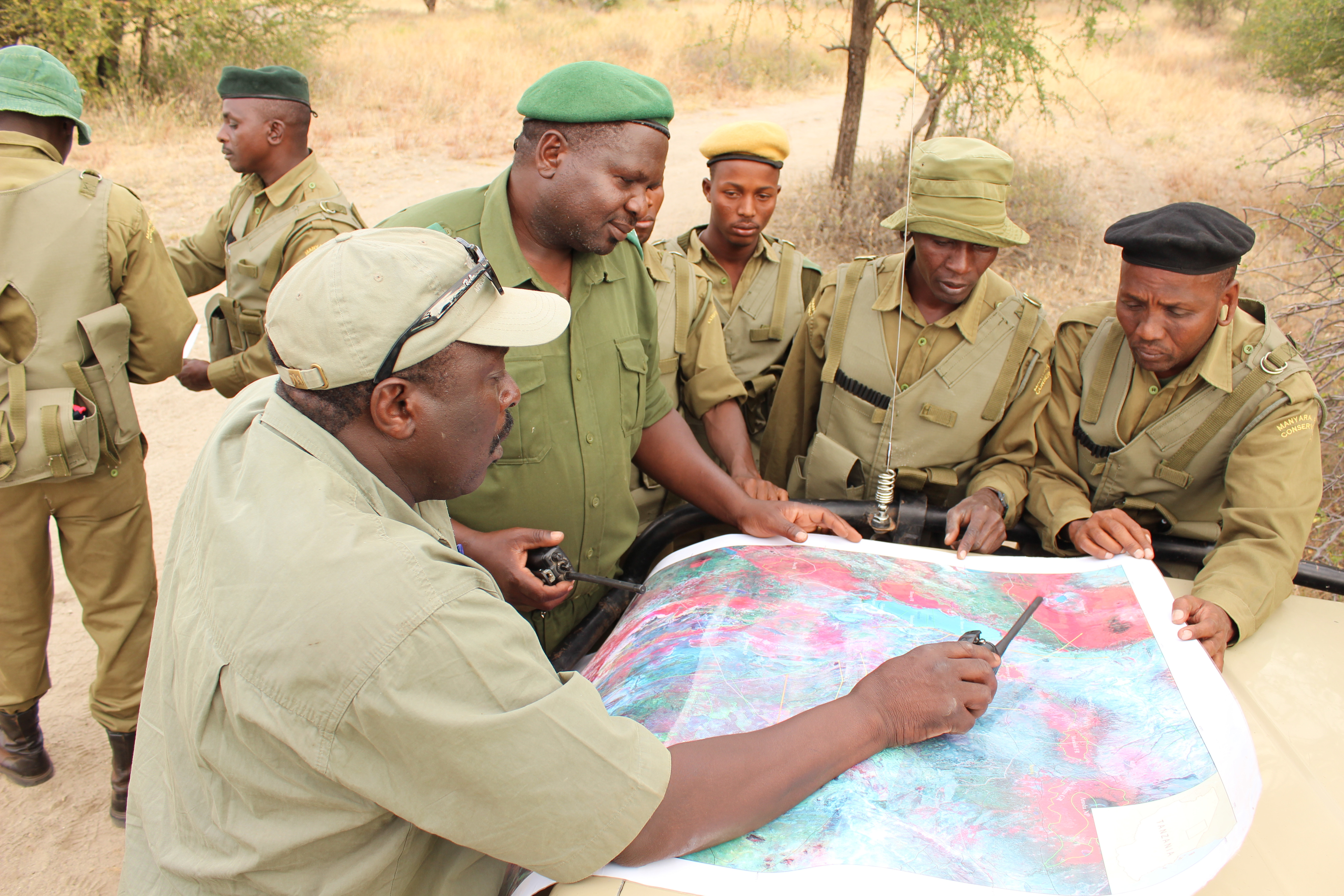 Game scouts in northern Tanzania