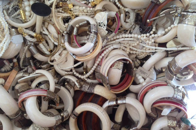 Ivory bangles and trinkets