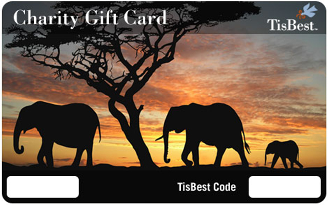 TisBest Charity Gift Cards African Wildlife Foundation