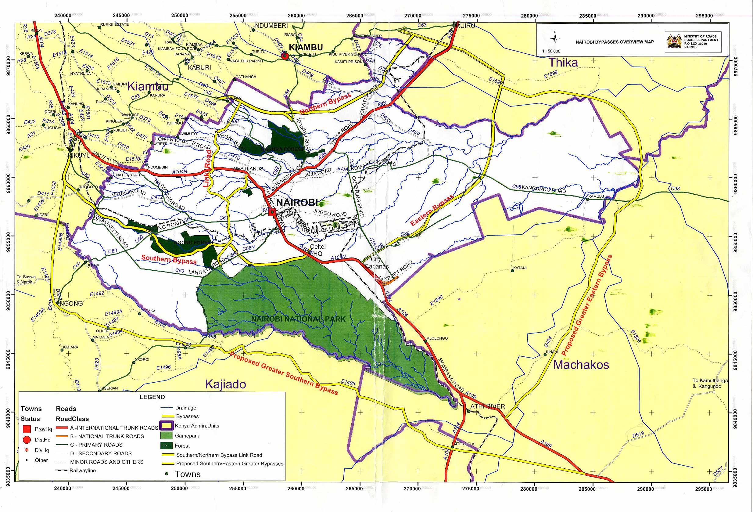 Nairobi Map | Maps Nairobi Map