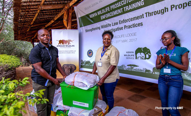 AWF donates scene-of-crime processing kits for wildlife law enforcement training
