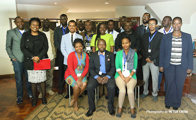 Photo of group of wildlife crime prosecutors after training session at African Wildlife Foundation