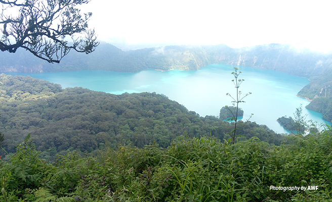 Photo of Ngosi crater lake in Poroto Ridge Forest Reserve in southern Tanzania