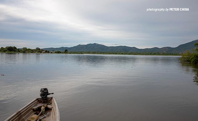 Photo of Zambezi River at Mbire district in northern Zimbabwe