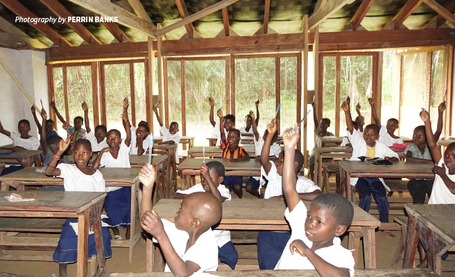 Photo of primary school children in classroom at Ilima Conservation School
