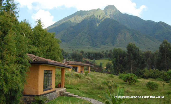 Photo of structures at Sabyinyo Silverback Lodge in Virunga mountains in Rwanda