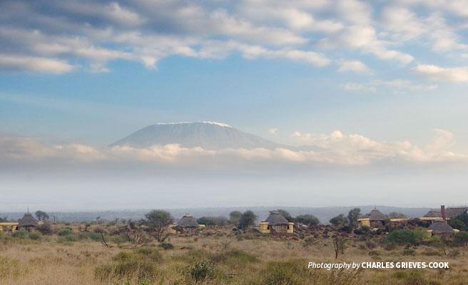 Satao Elerai Safari Camp in Amboseli with Mt Kilimanjaro in the background