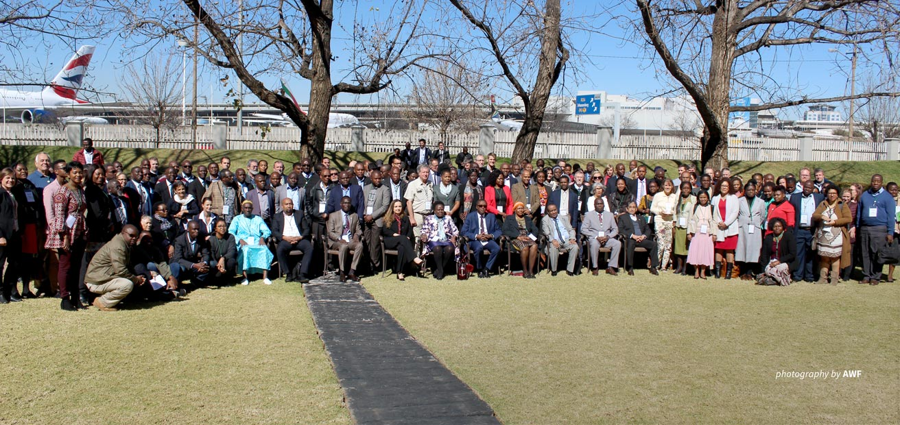 Photo of delegates at the IUCN Regional Conservation Forum for Eastern and Southern Africa in July 2019