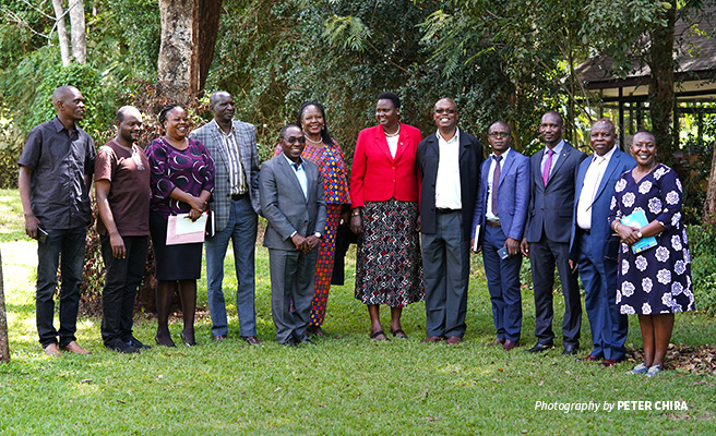 Photo of Uganda parliamentarians and wildlife officials visiting African Wildlife Foundation headquarters