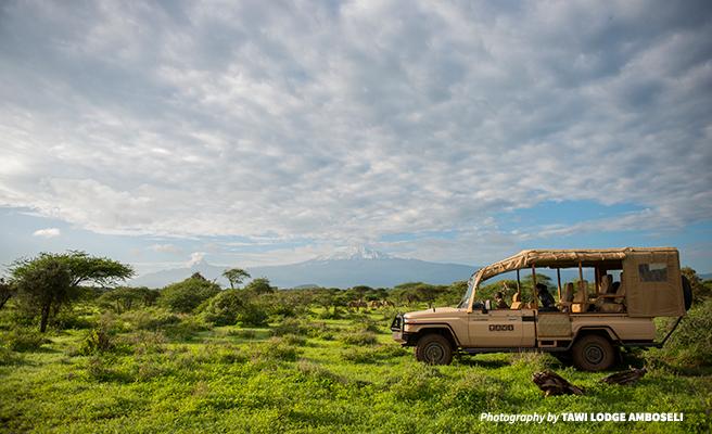 Photo of Tawi Lodge safari vehicle in Amboseli Kenya