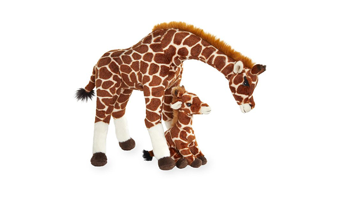 "Image of Toys ""R"" Us mother and baby toy stuffed giraffes"