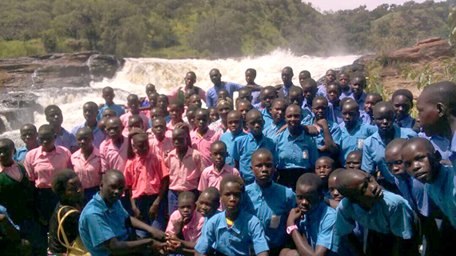 Photo of children at Uganda's Murchison Falls