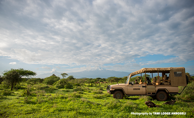 Photo of Tawi Lodge safari vehicle in Amboseli Kenya