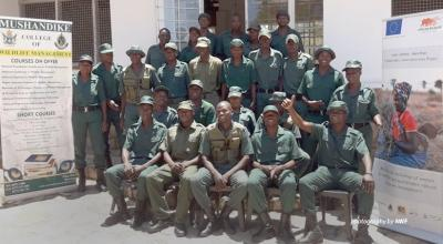 Mbire community wildlife scouts graduate from AWF-sponsored training
