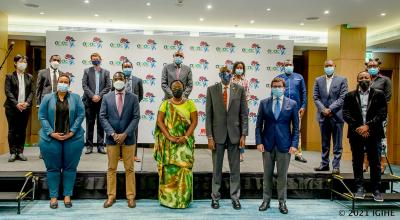 Officials from Government of Rwanda, AWF and IUCN at Africa Protected Areas Congress launch