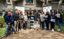 Photo of Chinese actress Jiang Yiyan and crew at the African Wildlife Foundation headquarter office in Nairobi